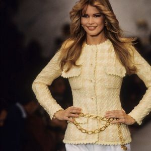 Iconic Chanel Vintage Spring 1993 Yellow Jacket